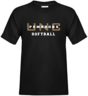 CollegeFanGear UNC Pembroke Youth Black T Shirt 'Softball'