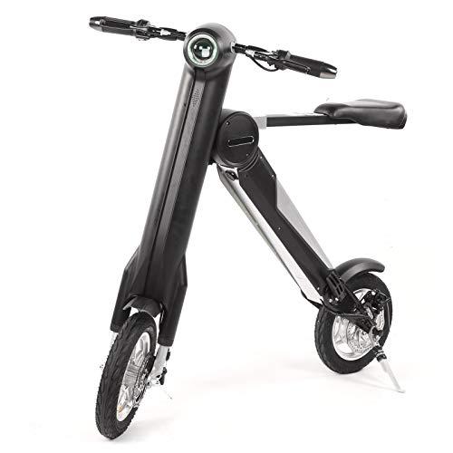 Bicicleta Eléctrica Plegable | 36V/250W Scooter Eléctrico de Motor sin Escobillas Bicicleta Eléctrica Pequeña Plegable con Luz Delantera Bicicleta Motorizada para Estudiantes/Metro/Viajes(UE)