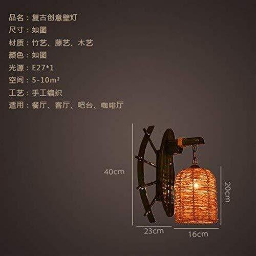 CAIJINJIN Lámpara de pared Pared de la cabecera de la lámpara de pared Luces Minimalista, Salón Dormitorio lámpara de cabecera de bambú Restaurante y Bar en la pared del pasillo del pasillo luces de l