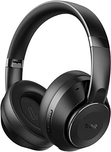 Tribit QuietPlus 78 Active Noise Cancelling Kopfhörer, Bluetooth 5.0 Wireless Kopfhörer Over Ear 35 Stunden Spielzeit, Built-in BES2300 Chip, Deep Bass, Faltbarer Kopfhörer für Zuhause, Büro, Reisen