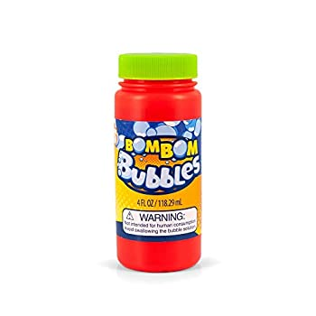 BomBom Bubbles Super Miracle Touchable Bubble Solution | for Use with BomBom Magic Gloves | 4-Ounce Refill Bottle