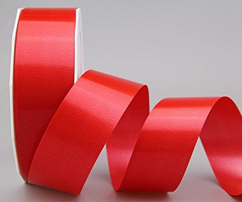 Polyband ROT 90 m x 4 cm (Rolle) (0,13€/m) Geschenkband Dekoband 40 mm Glanzband WETTERFEST Schleifenband Kartengestaltung Basteln Ringelband