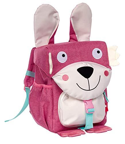 Sigikid 25080 Backpack, Pink/Rabbit, 28 x 24 x 18 cm