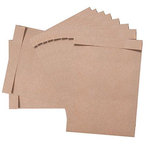 Logbuch-Verlag 50 kleine Papiertüten flach Papierflachbeutel 16,2 x 23 cm DIN A5 Umschlag Kraftpapier Flachbeutel Papier Beutel braun