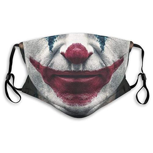Gooeyokoi Mundschutz Joker lächelnde Clowns Meme Lips Waschbar Atmungsaktive Staubdicht Schutz Bandana mit Filter