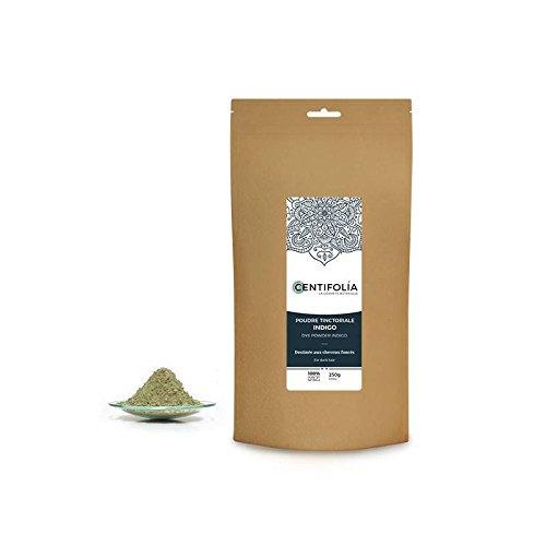 CENTIFOLIA - Indigo - Refuerza los tonos y oscurece el color del cabello oscuro - Cabello más resistente y brillante - Más volumen - 100% natural - 250gr
