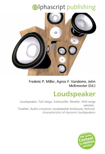 Loudspeaker: Loudspeaker, Full-range, Subwoofer, Woofer, Mid-range speaker,   Tweeter, Audio crossover Loudspeaker enclosure, lectrical  characteristics of dynamic loudspeakers