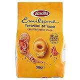 Barilla Pasta all' Uovo Ripiena Le Emiliane Tortellini con Prosciutto Crudo, 250g