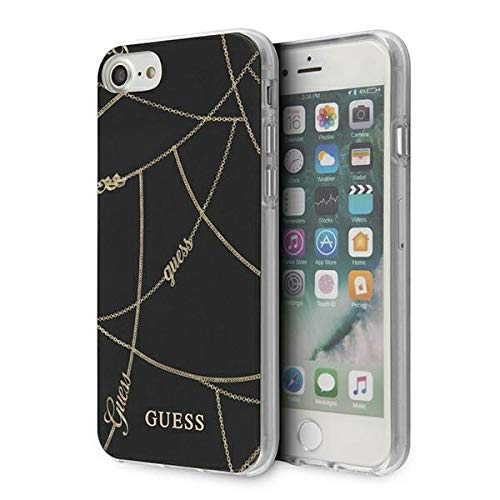Guess GUHCI8PCUCHBK - Cover rigida per iPhone 7/8/SE 2020, colore: Nero