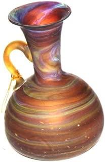 Catcoute Small Phoenician Vase - Ancient beauty Phoenician Glass Vase. Each is unique. Museum quality (5.1 Inch)