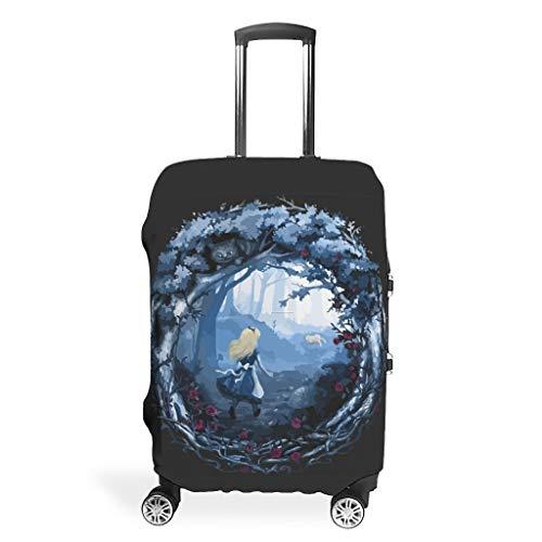 Funda de equipaje lavable para maleta, no se ajusta fácilmente a cuatro tamaños para elegir funda antiarañazos, se adapta a 45,7 a 81,2 cm, regalo perfecto para amigos, White (Blanco) - Bohohobo46541