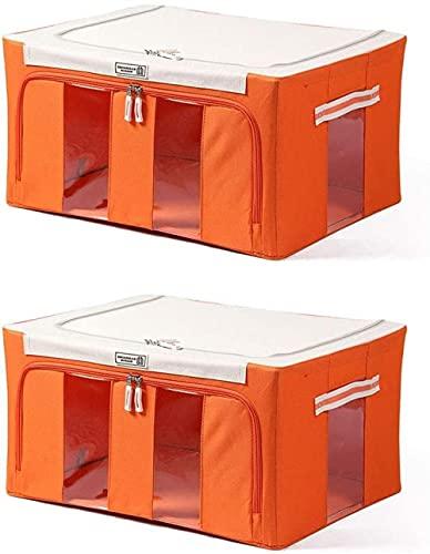 Organizador de bolsas de almacenamiento de ropa, 2 unidades de 88 L, contenedores de almacenamiento plegables para armario, contenedores de almacenamiento (color : Ee)-Hh