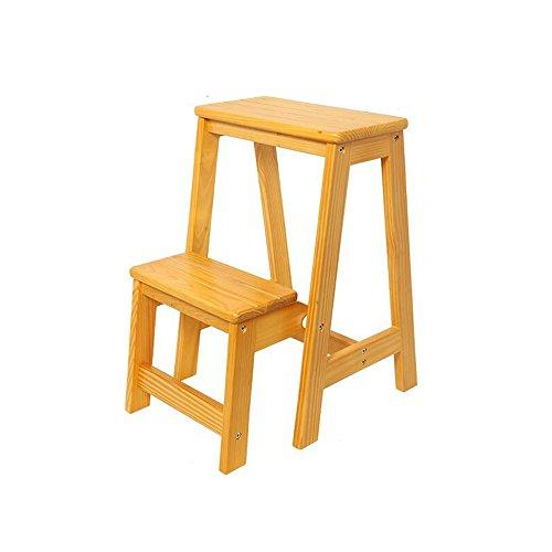 ZfgG Chaises multifonctionnelles de Tabouret d'échelle en Bois Solide de Tabouret d'échelle changeant des chaises Pliantes avec 2 étapes (Color : #2)