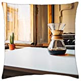 LESGAULEST Throw Pillow Cover (18x18 inch) - Coffee Filter Prepration Drink Caffeine Hot