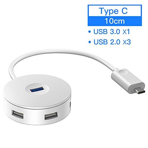 DAZER HUB Adapter with Micro 4 in 1 USB 3.0 HUB, USB/Type-C HUB for MacBook Pro Surface USB HUB USB 2.0 USB for Computer USB Splitter,Type c