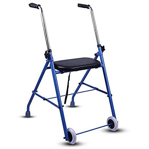 SISHUINIANHUA Vierbeiniger älterer Rollator des Wanderers, Rehabilitations-stehender Armlehnen-gehender Hilfsmittel-gehender Stock-Stuhl