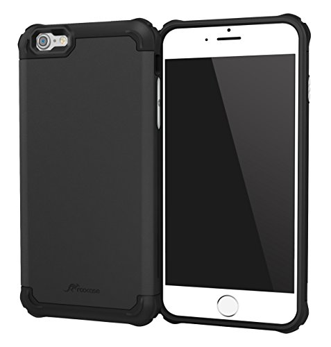 iPhone 6s Case, iPhone 6 Case, rooCASE Exec Tough PRO Rugged Shockproof Heavy Duty Case for Apple iPhone 6/6s, Black