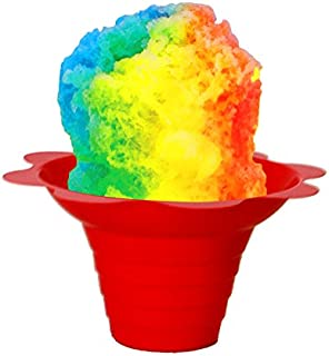 Shaved Ice/Sno Cone Flower Cups, 4 ounce (small), Case of 1000, Mixed Colors Per Case