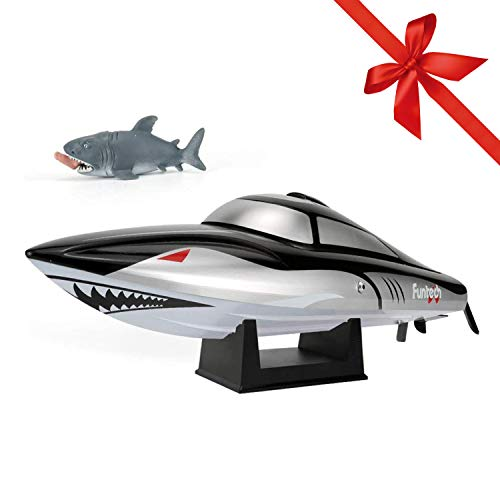 FUNTECH Shark RC Boat for Kids Adults - Remote Control Boats...