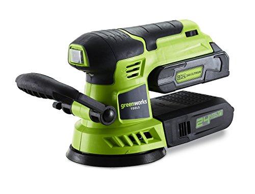 Greenworks Tools Exzenterschleifer 24 V – 3100107, Grün