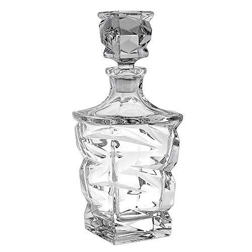 Whisky in cristallo Caraffa, 75 cl, motivo: strisce a ZIG ZAG