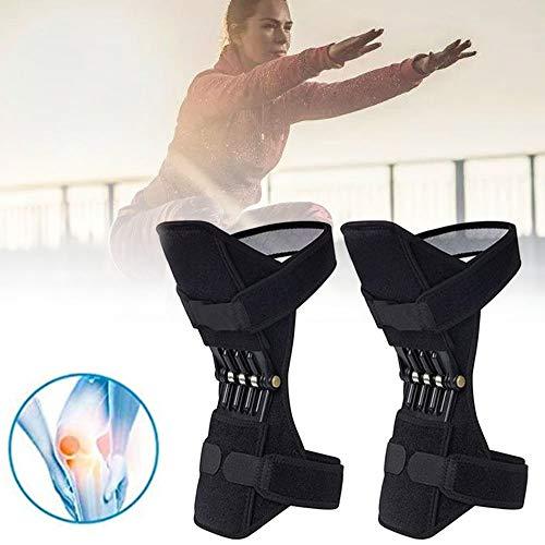 GBHJJ Rodilleras- Knee Active Plus, Rodillera Ajustable, con Correas Totalmente Ajustables para Caminar, Subir Escaleras, para Caminar, Correr, Reduce el Dolor (Negro)