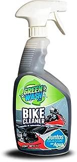 Green Wash 3 Lavado En Seco Ecológico Sin Agua para Motocicleta Botella De 1 Litro con Atomizador