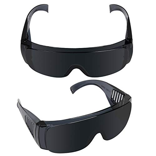 Grow Room Light Glasses (2 Pack) - LED, HPS, HID, CMH, CFL - Indoor Horticulture & Hydroponics Grow Room Safety Glasses - Protective & Intensity Reducing Eyewear