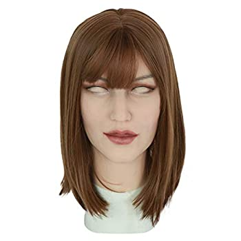 Roanyer Silicone Mask Crossdresser Face Mask Realistic Female Mask Silicone Transgender Lifelike Female Silicone Gel Face Mask Ann Natural