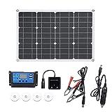Staright Kit de Panel Solar 50w Células solares Controlador de...