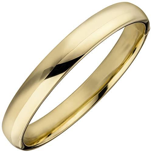 JOBO Damen Armreif Armband 925 Sterling Silber gold vergoldet