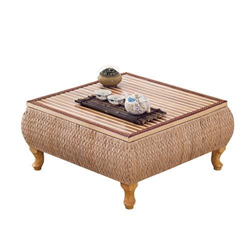 Couchtische Möbel/Wohnzimmer/Tische Tatami Balkon Erker Fenster Tisch Home Aufbewahrungsbox Wohnzimmer Freizeit Kleinen Tisch Bambus Rattan Handgefertigten Holztisch