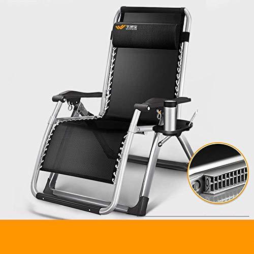 Gymqian Tumbona, silla de gravedad cero, tumbonas, cama de la siesta de la oficina, silla de playa de ocio, cama acompañante del hospital asientos al aire libre eh/Soporte de plat