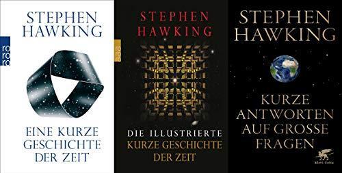 3 Titel von Stephen Hawking im Set + 1 exklusives Postkartenset