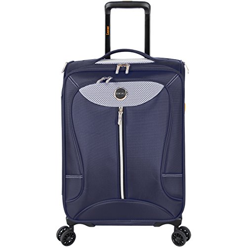 Lucas Luggage Adrenaline 27 inch Large Softside Expandable Spinner Suitcase (27in, Navy)