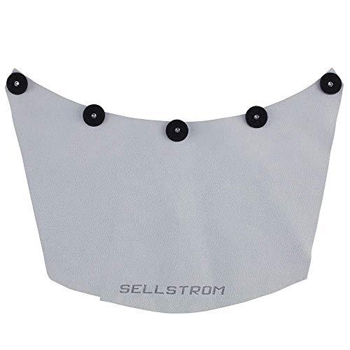 Sellstrom Protective Leather Welding Spatter Bib for Welding Helmets/Face Shields, Grey, S21100