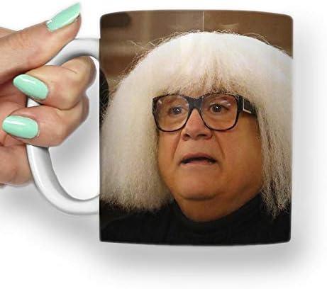 Danny Devito White Wig Gift Mug Funny Mug Coffee Mug Tea Cup Tea Mug Internet Meme Mug 11oz Amazon Co Uk Kitchen Home