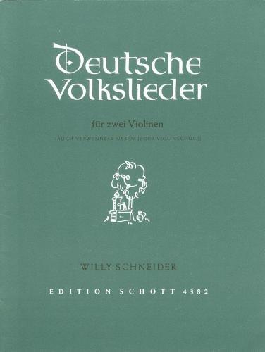 Noten Duitse Volkslieder voor 2 viool Schott ED 4382