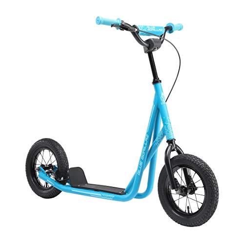 BLUE GORILLAZ Roller Kinderroller Tretroller Kickscooter für Jungen, Mädchen ab 6 - 7 Jahre | 12 Zoll Scooter mit Luftreifen | Blau