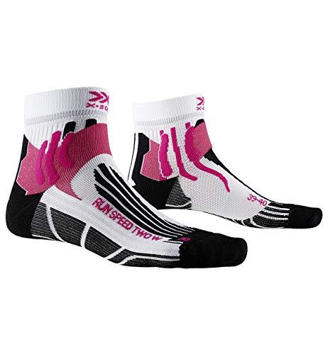 X-Socks Run Speed Two Women Socks, Donna, Arctic White/Opal Black, 39-40