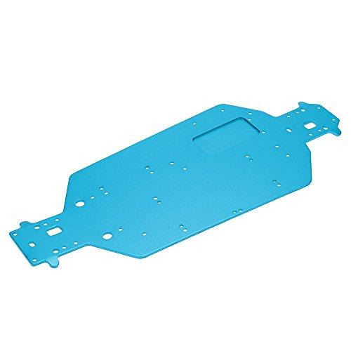 04001 Auto Aluminium-Chassis Satz Für Hsp Ep Rc 1/10 Off-Road Buggy Monster Blau