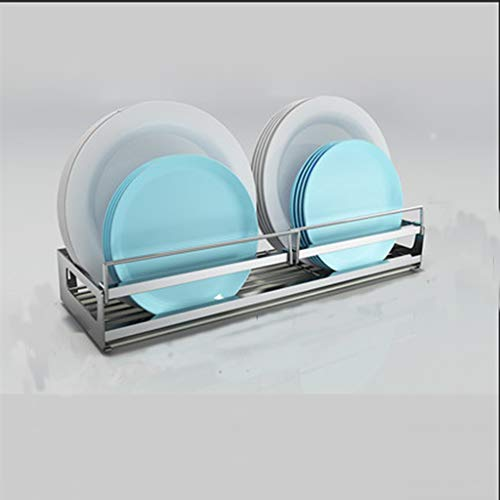 Haushaltsküchenarbeitsplatte Multifunktionsgeschirrtrockner-Trocknerrahmen weiß YGDH (Size : 42.3×14.5×9.4cm)