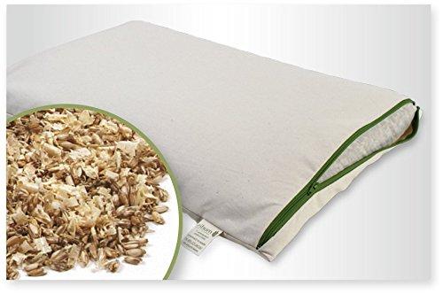 mudis Naturkissen&mehr Bio Zirben-Dinkelkissen,Schlafkissen,stützend und für besseres schlafen,Füllung in extra Bio Baumwoll Innennetz, (40cm x 80cm)