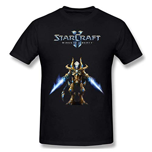 GSBTX® Starcraft Herren Klassisch T-Shirt Black