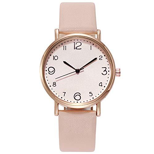 JZDH Relojes para Mujer Mira Las Mujeres Moda Casual Señoras Relojes de Cuero Sencillo Pequeño Dial Cuarzo Reloj Vestido Reloj de Pulsera Relojes Decorativos Casuales para Niñas Damas (Color : 1pcs)
