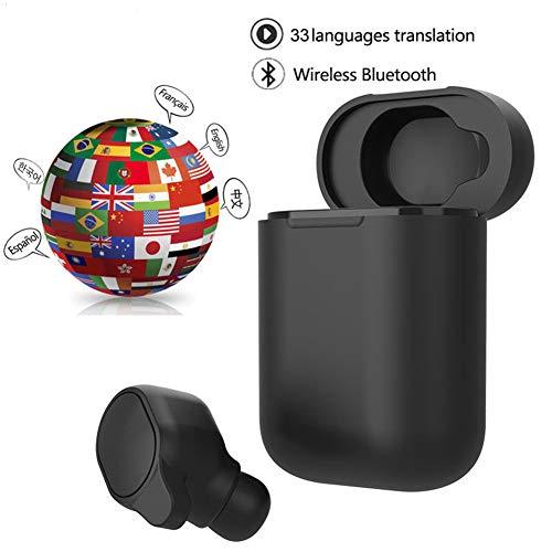 JASZW Bluetooth Auriculares, Auriculares del traductor 33 Idiomas traducidos de Forma instantánea traductor Inteligente de Voz inalámbrica Bluetooth Headset Traductores
