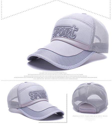 CWH-hat Gorra de Secado Rápido para Deportes Al Aire Libre para Hombres, Protector Solar, Gorra de Béisbol, Gorra de Béisbol con Bordado de Letras