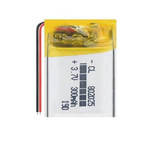 TTCPUYSA Batería De Litio De PolíMero Recargable 3.7v 802025 300mah, Puede para Grabadora De Conducción De MicróFono 1piece