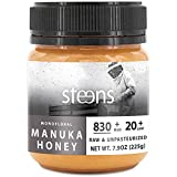 Steens Raw Manuka Honey (UMF 20 / MGO 829+, 7.9 oz.) Cold Pressed Non-GMO Monofloral New Zealand Honey - MGO/UMF Certified - Minimal Whole Comb Processing & Traceable Back to the Hive