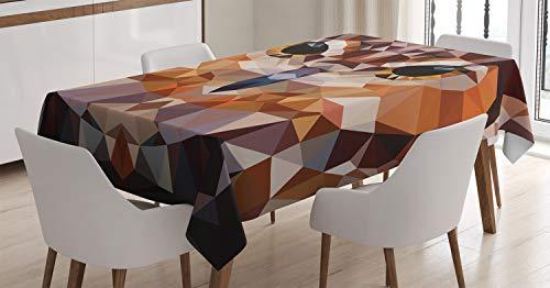 ABAKUHAUS Geometrico Tovaglia, Mosaico Geometrico Owl Art, Rettangolare per Sala da Pranzo e Cucina,...